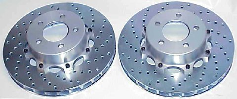 DeTomaso Pantera Drilled Rotors for 17 inch wheels