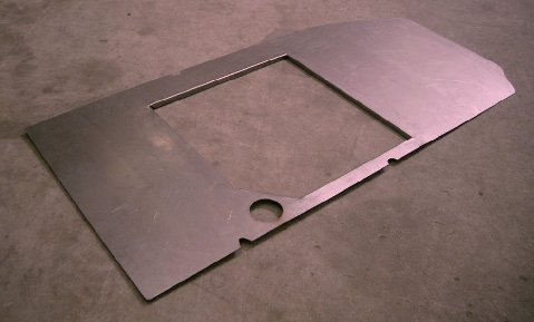 DeTomaso Pantera Part #EB1027 Stainless Steel gas tank cover