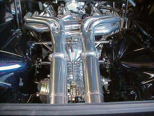 ex1037 180 Degree Headers 351 Cleveland Steer / Aluminum Cylinder Heads