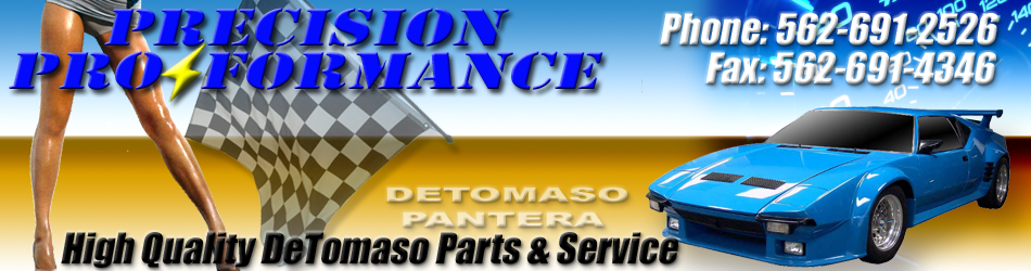 Precision Proformance DeTomaso Pantera World parts supplier