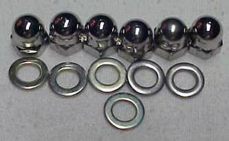 DeTomaso Pantera Acorn Nuts Polished