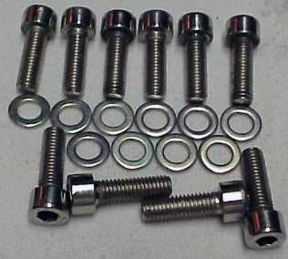 DeTomaso Pantera Polished Stainless Steel Socket Head Screws